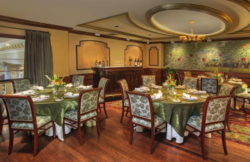 Dining room at Hotel Monaco San Francisco.