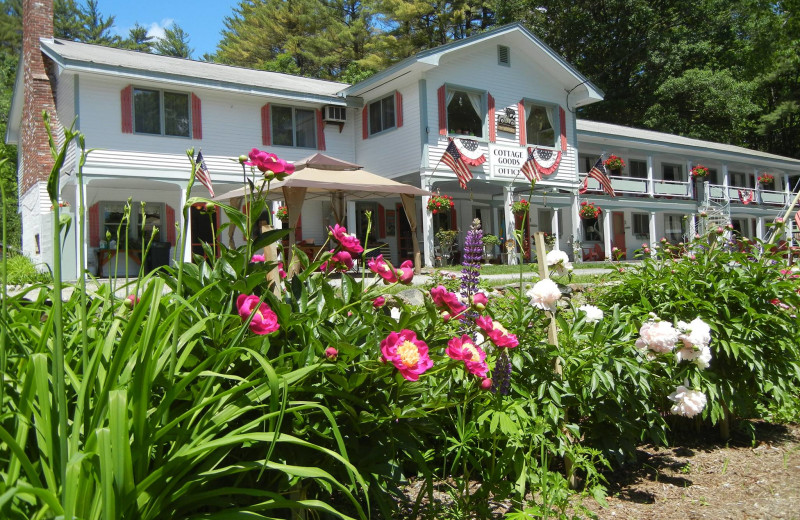 Lodge exterior at Cottage Place on Squam Lake.