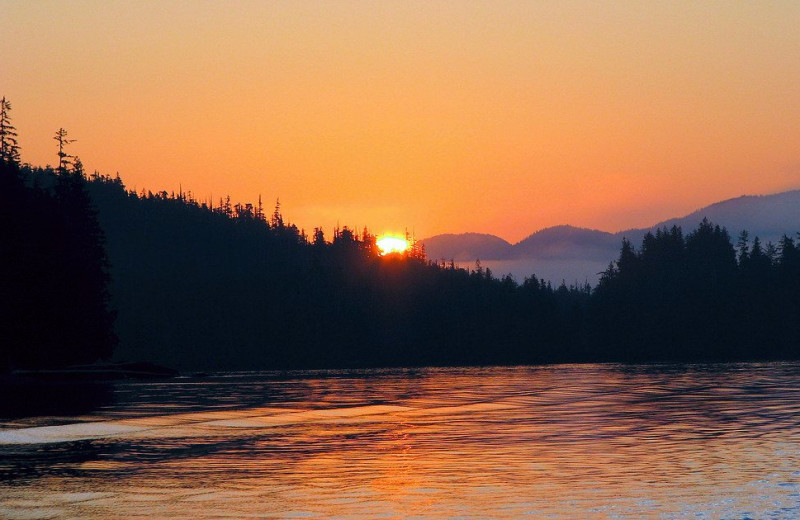 Sunset at Nootka Marine Adventures.