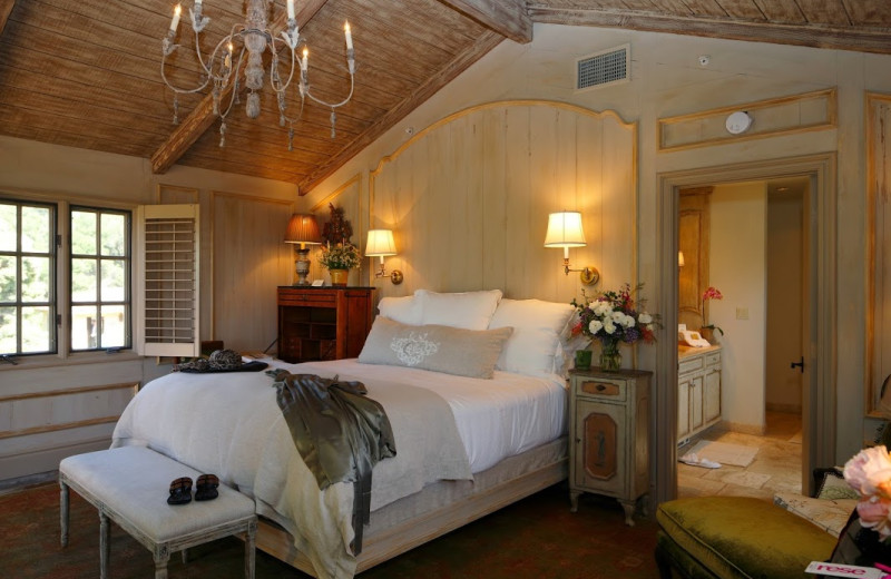 Guest room at Cal-a-Vie.