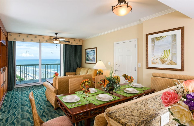 Guest living area at Westgate Myrtle Beach.
