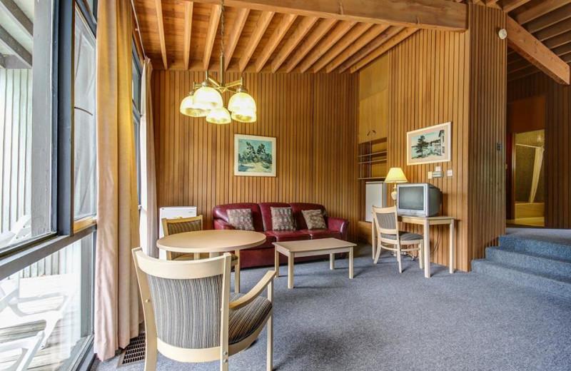 Guest room at Delawana Resort.