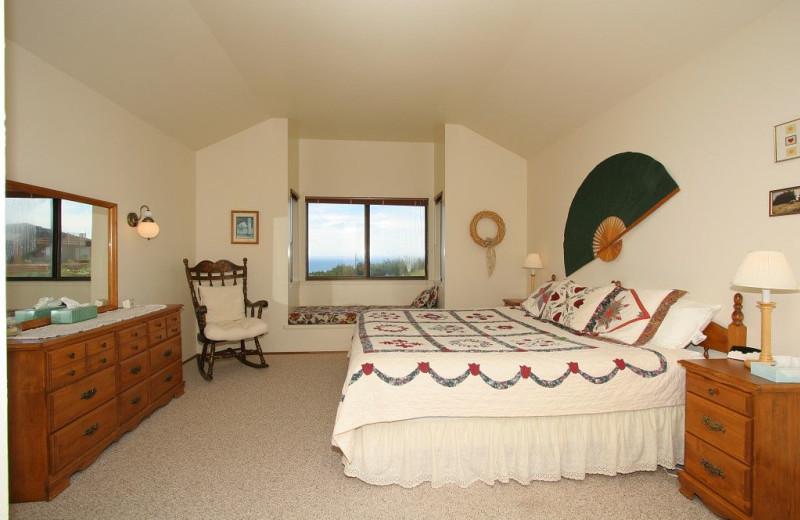 Rental bedroom at Irish Beach Rental Agency.