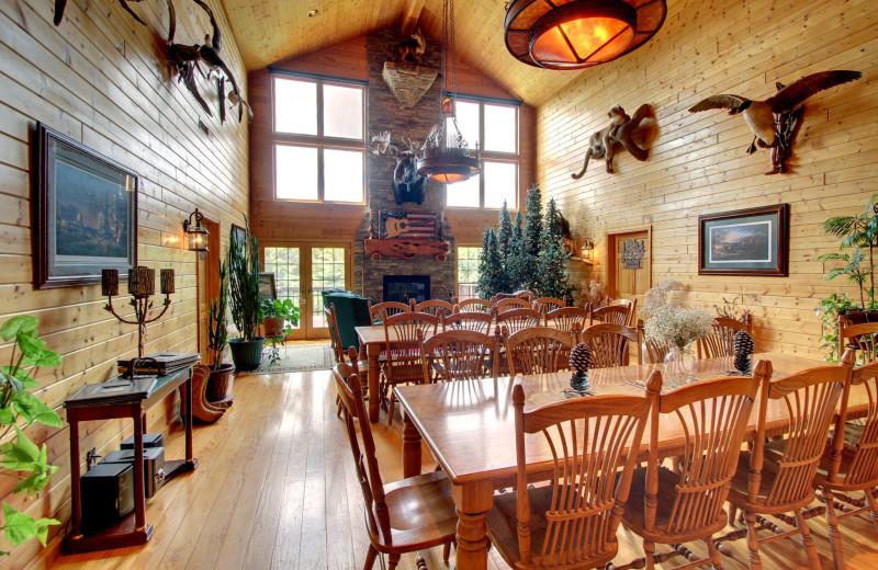 Dining Hall at Harpole's Heartland Lodge.
