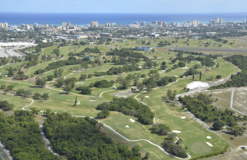 Golf course at Beach Vacation Rentals.