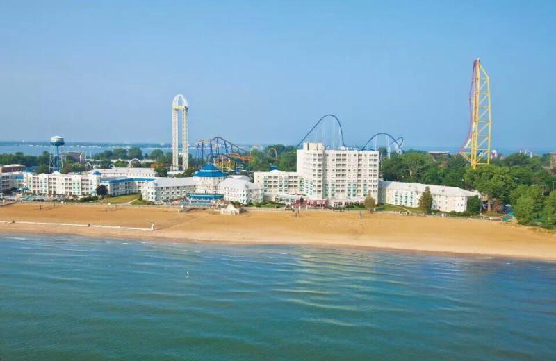 Exterior view of Cedar Point Resort.
