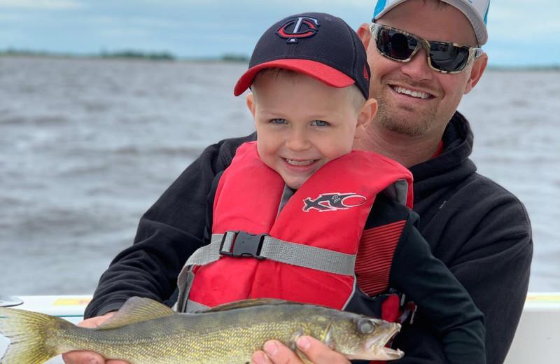 Fishing at River Bend's Resort & Walleye Inn.