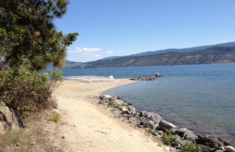 Beach at Lake Okanagan Resort