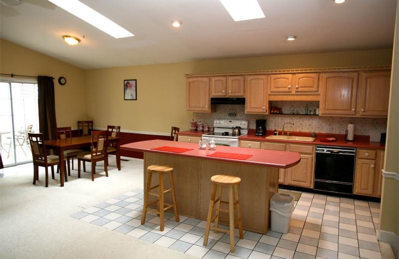 Cabin Kitchen at Hidden Hollow Cabins