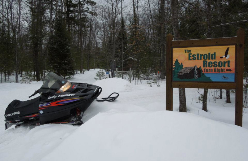 Snowmobiling at The Estrold Resort.