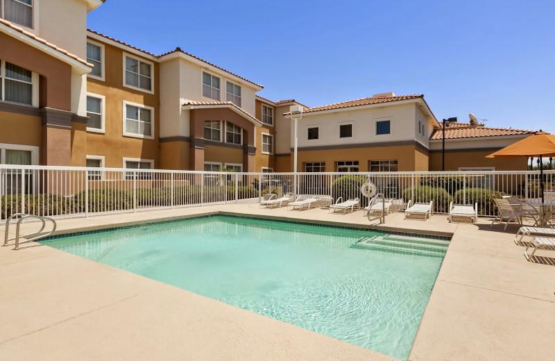 Outdoor pool at Homewood Suites Phoenix-Scottsdale.