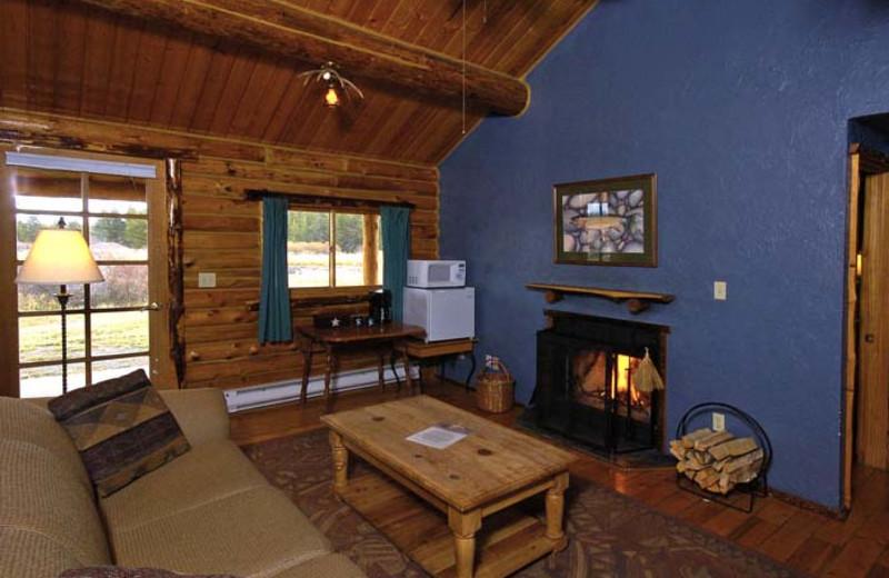 Buttermilk Creek cabin interior at Bar N Ranch.