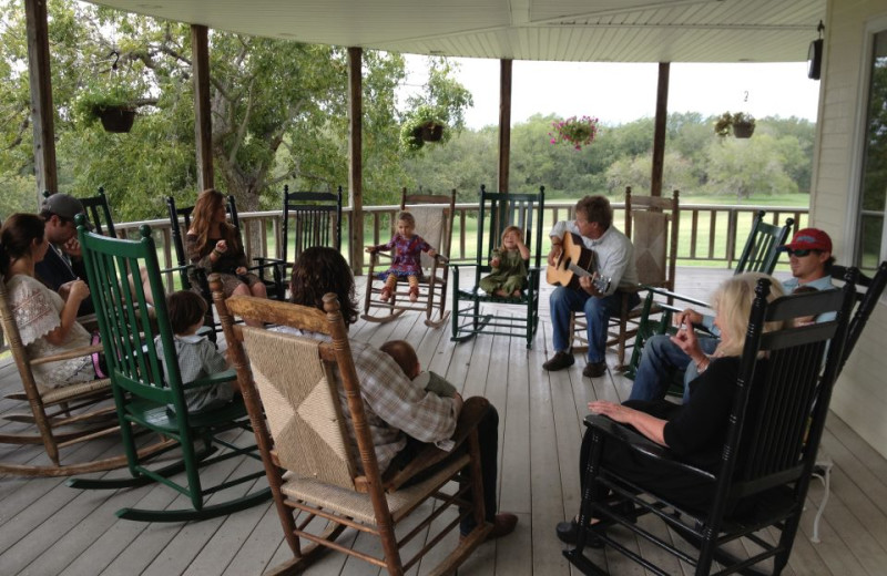 Relax on the Porch at Haven River Inn