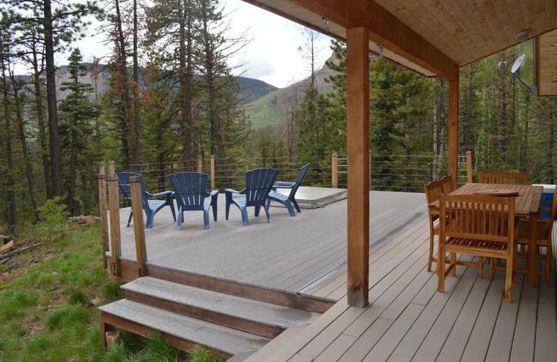 Rental deck at Durango Colorado Vacations, LLC.