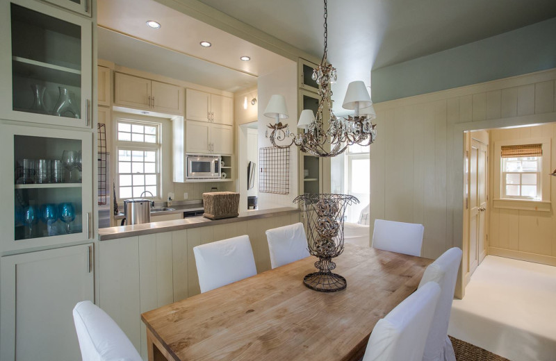 Dining room at Rosemary Beach Cottage Rental.