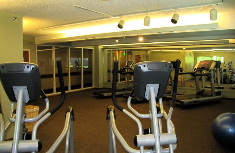 Gym at Heidel House Resort.