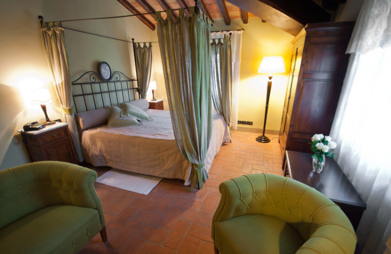 Guest room at Podere Dionora.