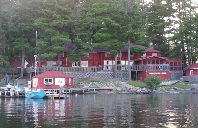 Exterior view of Arrowhead Lodge & Resort.