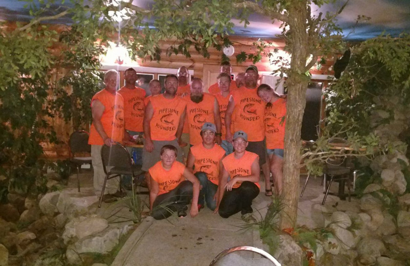 Group at Fishing Pipestone Point Resort.
