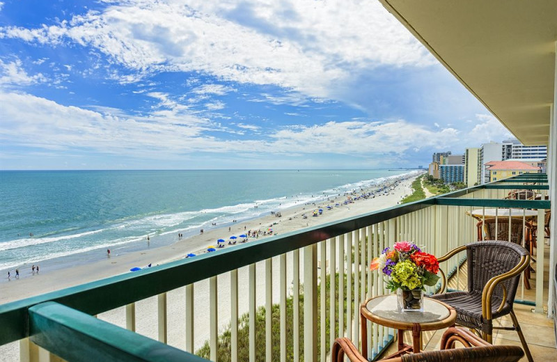 Balcony view at Westgate Myrtle Beach.