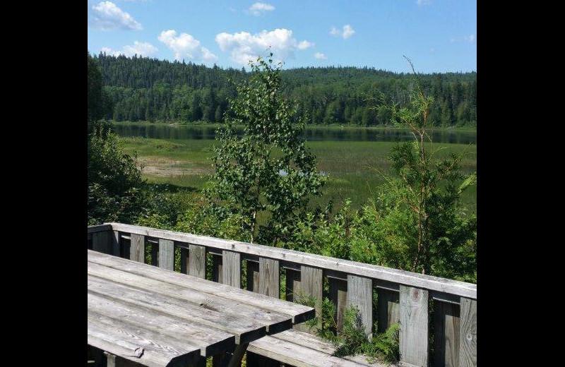 Deck view at Elk Lake Wilderness Resort.