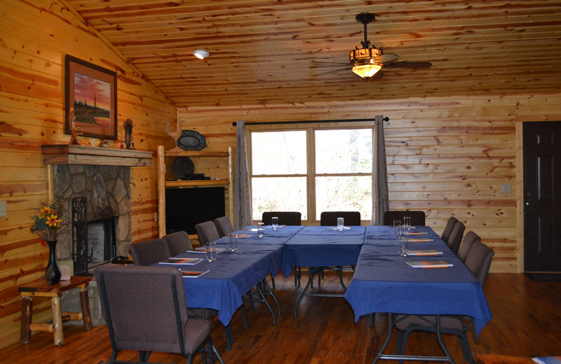 Cabin meeting room at Sautee Resorts.