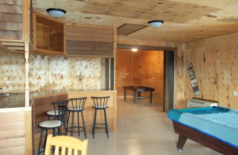 Game room at Granite Springs Lodge.