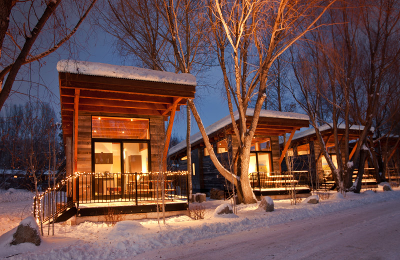 Cabins at Fireside Resort at Jackson Hole.
