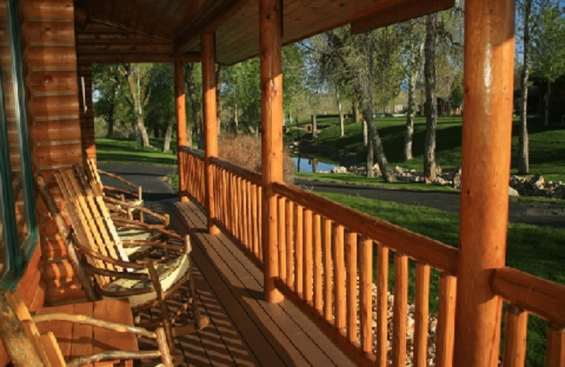 Porch at The Hideout Lodge & Guest Ranch.