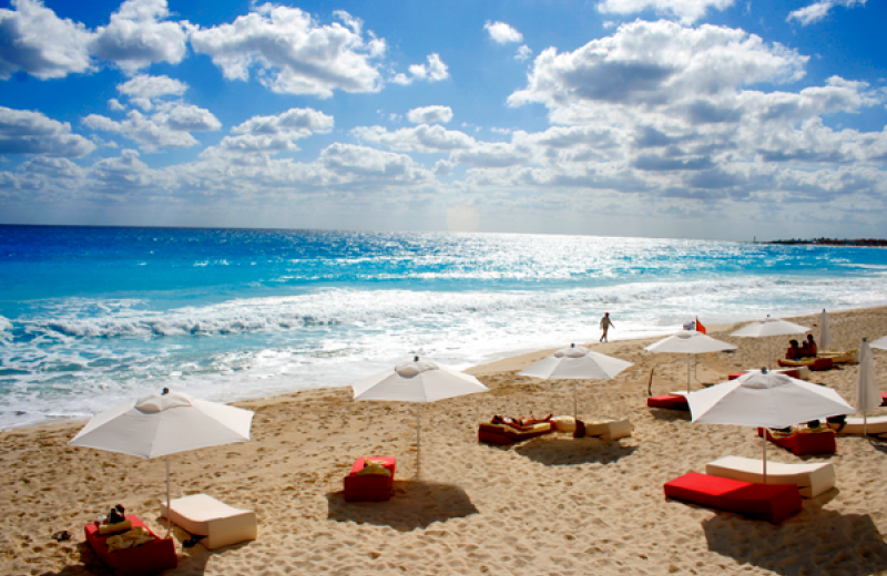 Beach at Bel Air Collection Hotel & Spa Cancun.