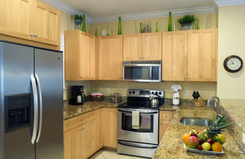 Guest kitchen at Tranquility Bay Beach House Resort.