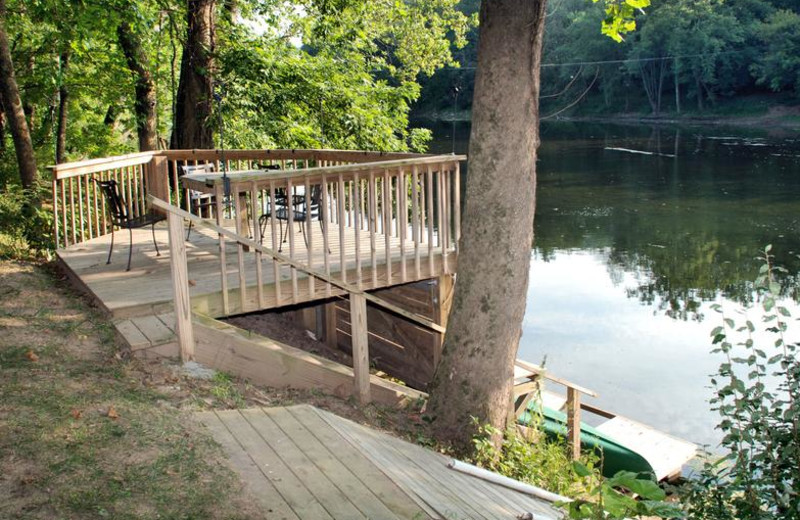 River view at Greenbrier River Retreat.