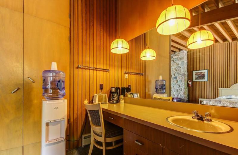 Guest bathroom at Delawana Resort.