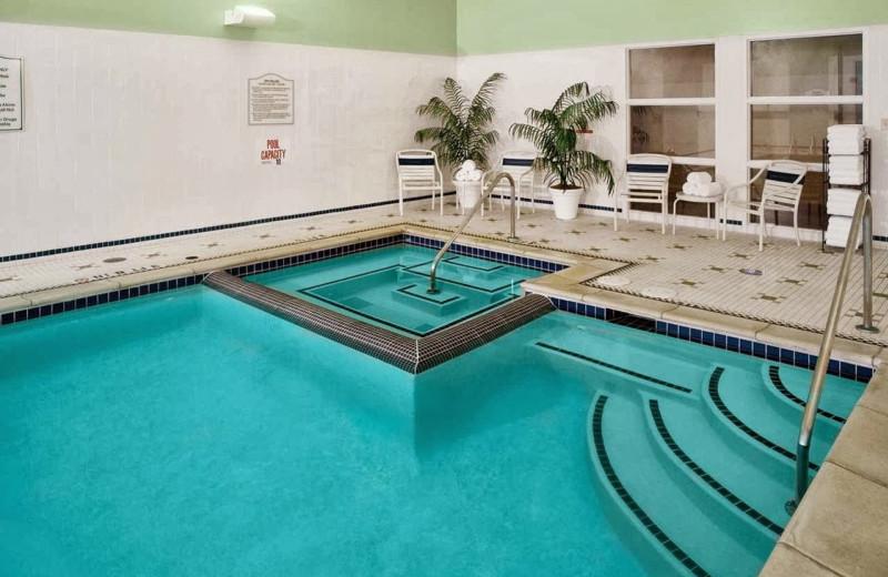 Indoor pool at Hilton Garden Inn Detroit Downtown.