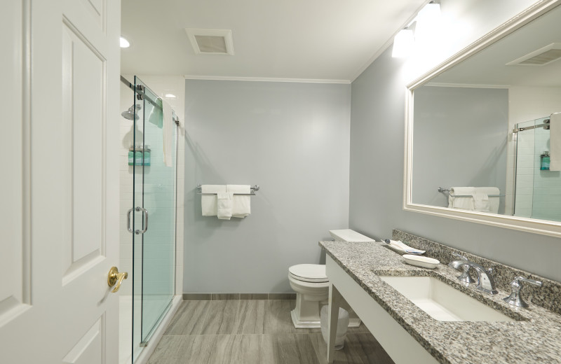Guest bathroom at The Inn at Ocean's Edge.