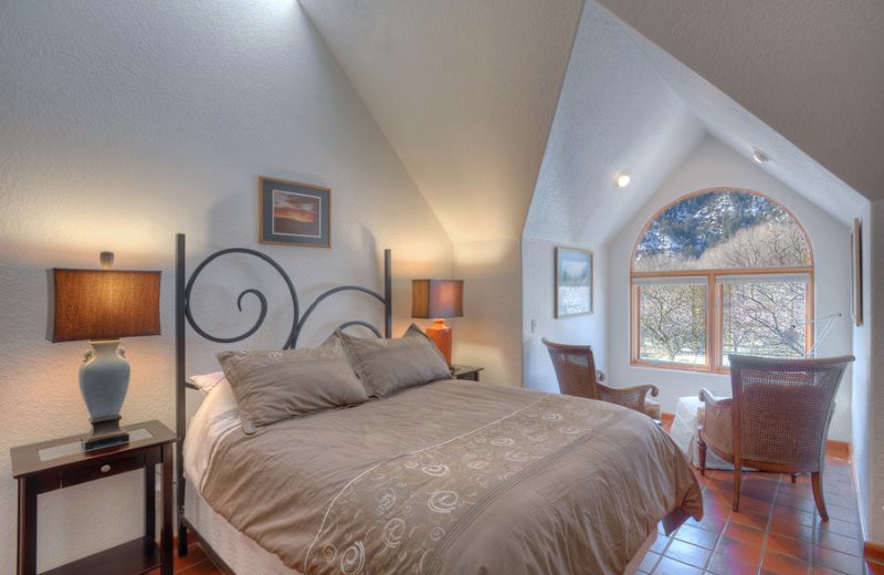 Rental bedroom at Hill Country Lake House.