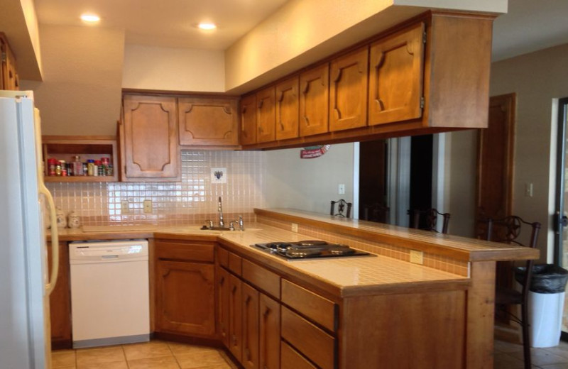 Rental kitchen at LBJ Schmidt House.