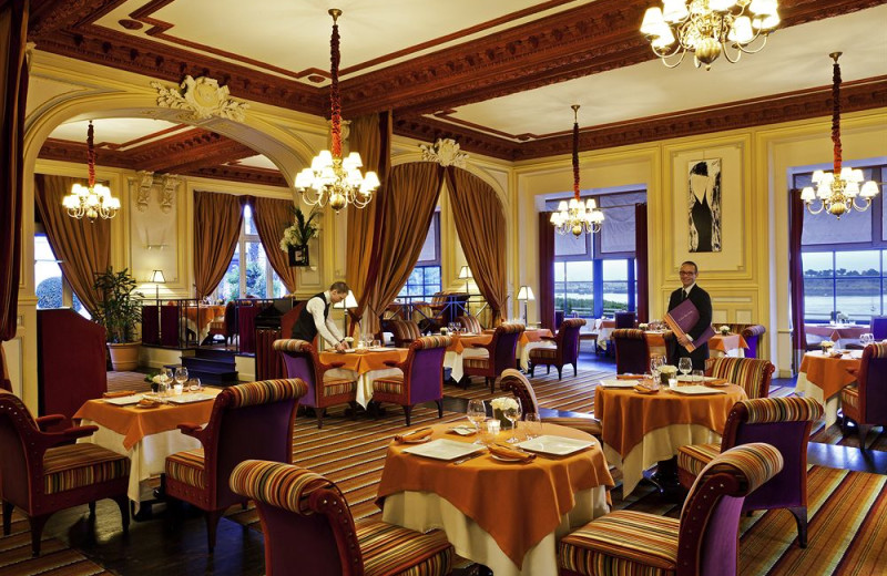 Dining at Grand Hotel Barriere.