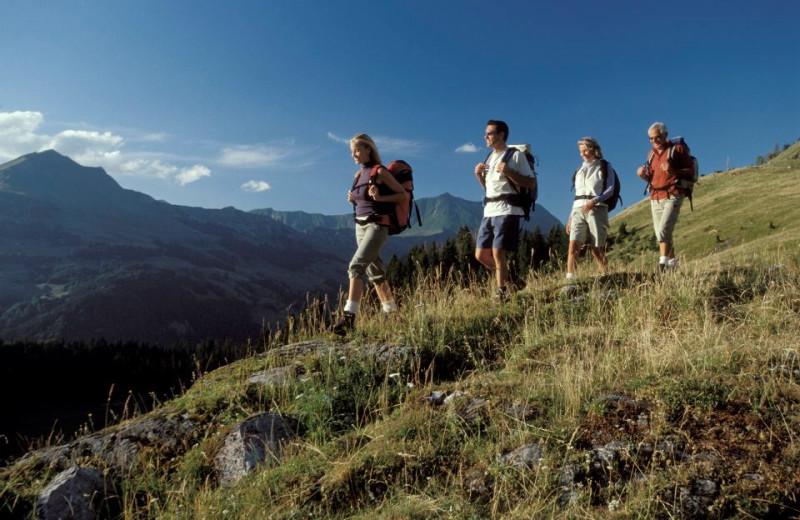 Hiking through the mountains at Black Diamond Vacation Rentals.
