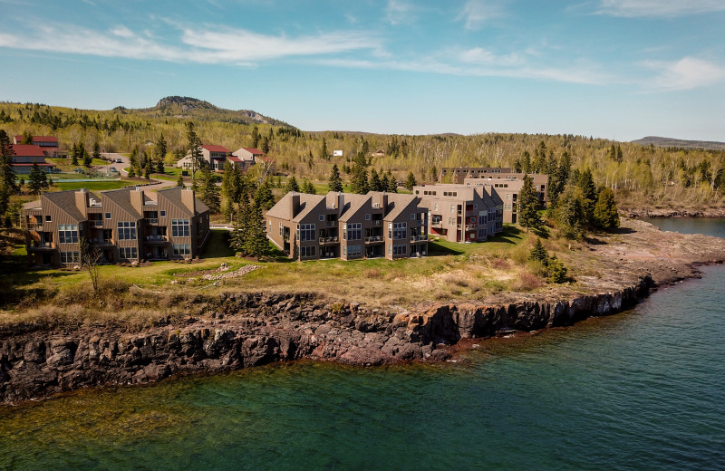 Exterior view of Surfside on Lake Superior.