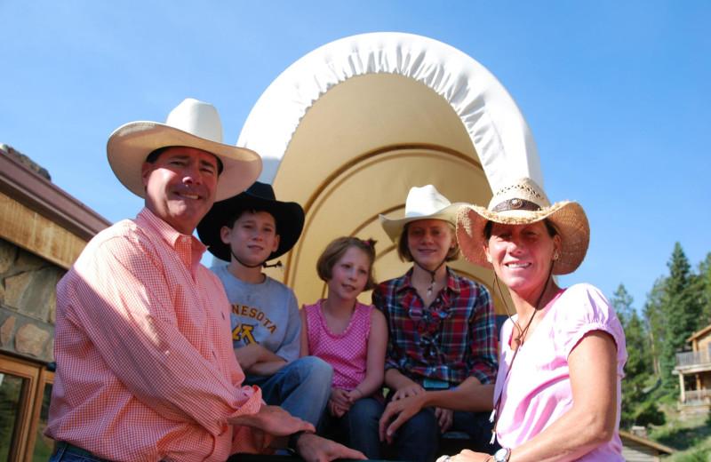 Wagon ride at Paradise Guest Ranch.