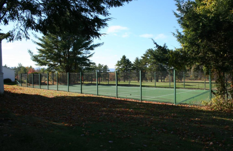 Tennis court at Windrifter Resort.