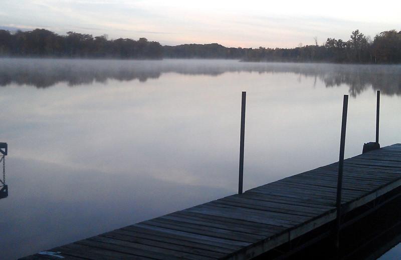 Lake view of Rose's Bay Resort.