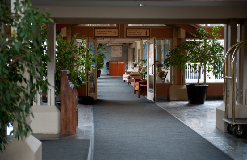 Lobby at St. Eugene Golf Resort & Casino.