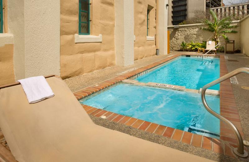 Outdoor pool at Holiday Inn Express San Antonio.