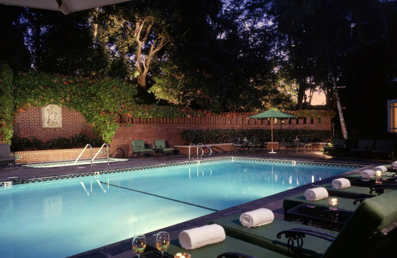 Outdoor pool at Stanford Park Hotel.