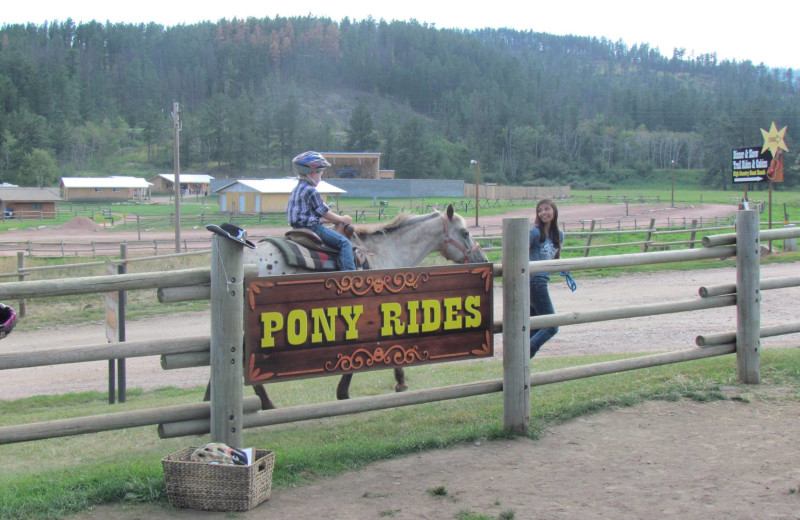 Pony rides at High Country Guest Ranch.