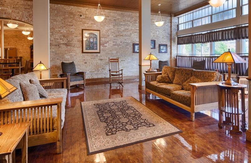 Lobby at Best Western Plus Sunset Suites Riverwalk.