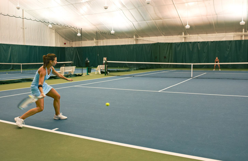 Tennis court at Boar's Head Resort.
