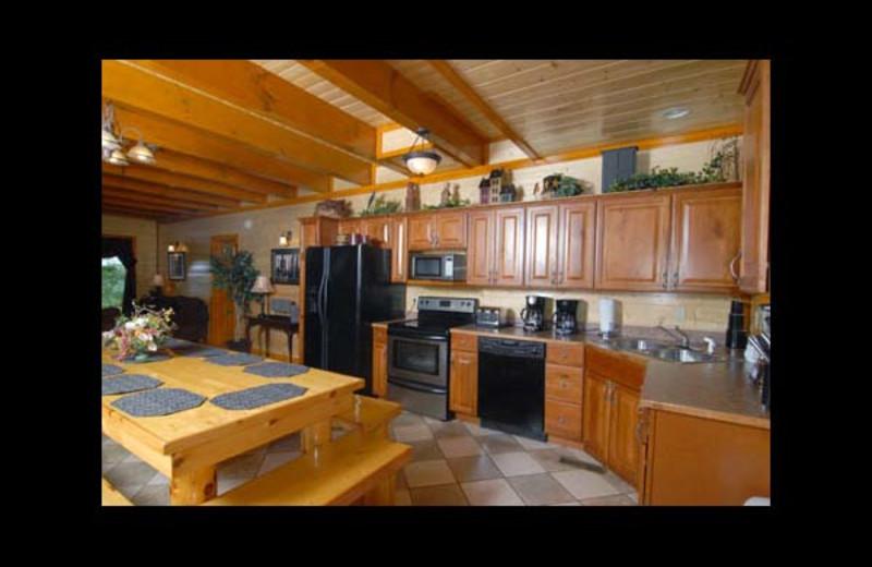 Cabin kitchen at Eden Crest Vacation Rentals, Inc. - Poolin' Around Cabin Rental.
